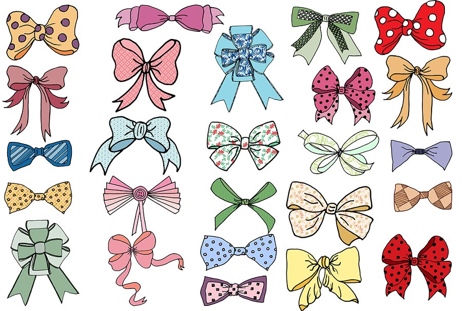 Bow tie clipart  in Illustrations - product preview 8