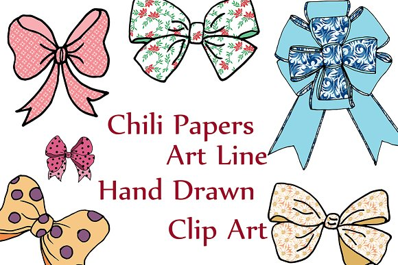 Bow tie clipart  in Illustrations - product preview 1