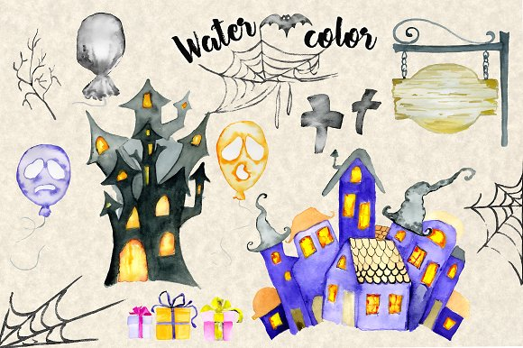 Happy Halloween Watercolor Bundle in Illustrations - product preview 5
