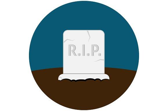 Grave flat icon