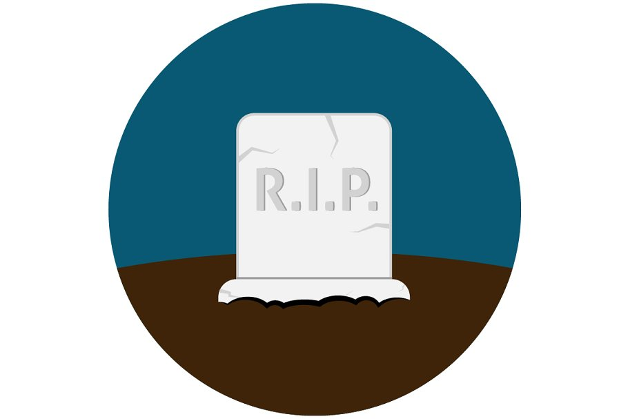 Grave flat icon in Graphics - product preview 8