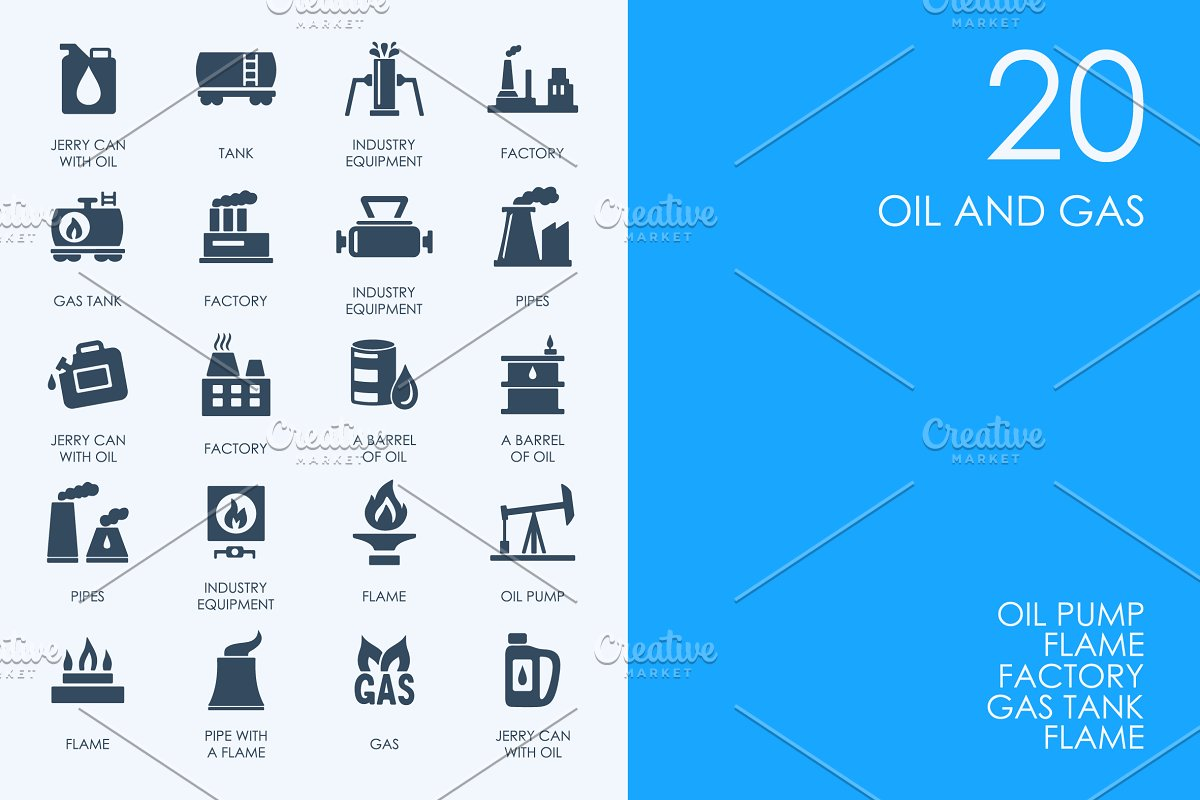 Oil and gas icons in Icons - product preview 8