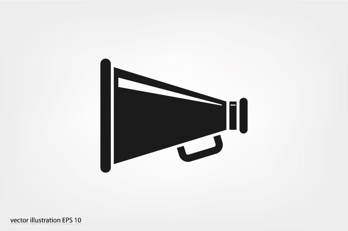 Megaphone icon ~ Icons ~ Creative Market
