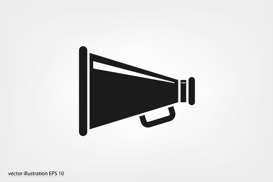 Megaphone icon in Icons - product preview 8