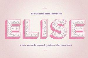 Elise - Layered Typeface