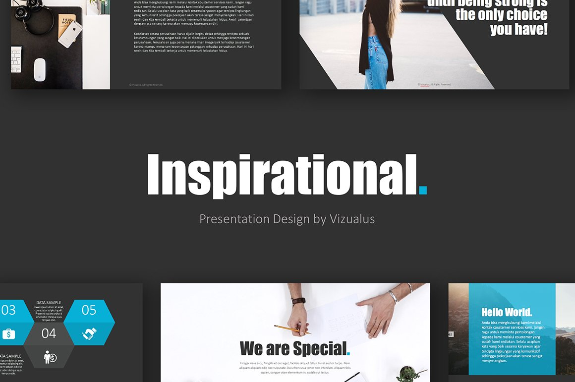 Inspirational Keynote Template +Gift ~ Presentation Templates ...