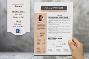 Modern Word docx resume cover letter
