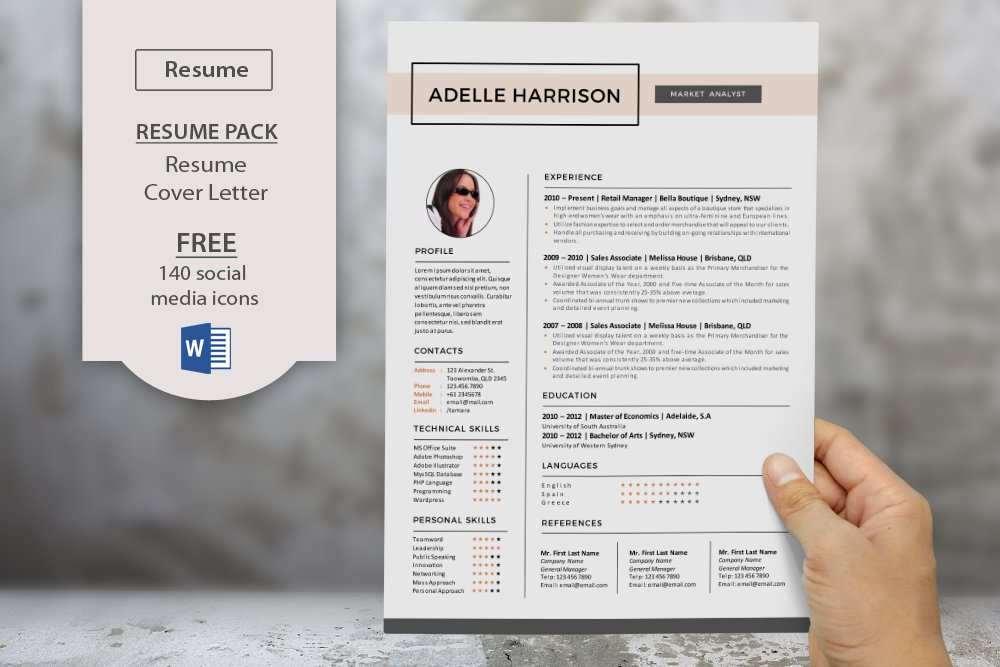 Word docx resume templates