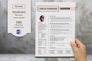 Word docx resume templates