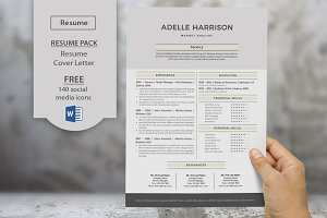 Big bar Word resume cover letter