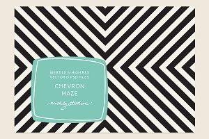 VECTOR & PSD Chevron Maze tile & pat