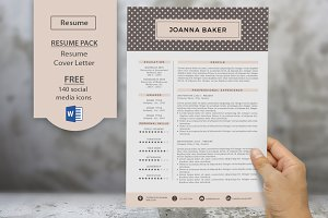 Polkadots 2p resume cover letter