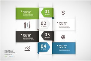 Business Infographic Arrow Template.