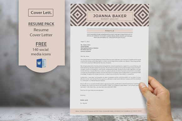 geometric pattern resume cover resume templates creative market