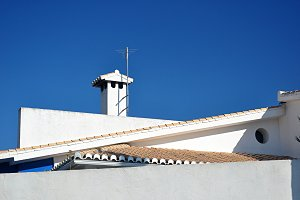 architectural lines of roofs