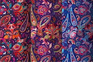 3 Bright Paisley Patterns