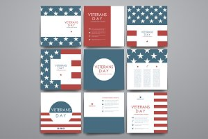 Veterans Day. Card Templates
