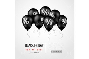 Black friday with black balloons