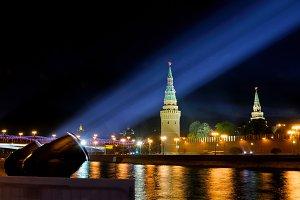 Illumination of the Moscow Kremlin