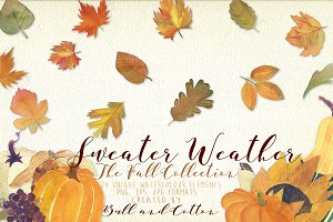 Sweater Weather Autumn Clipart