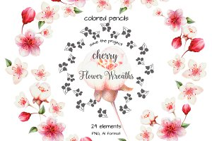 Cherry Flower Wreaths