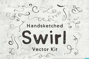 Hand-Sketched Swirls Vector Kit