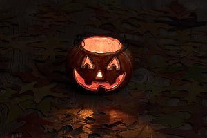 Glowing Pumpkin Decoration