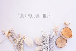 Christmas Style Flat Lay Background