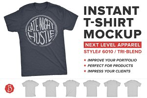 Next Level Tri-Blend T-Shirt Mockups