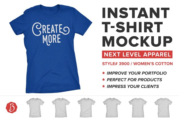 Free Next Level 3900 T-Shirt Mockups