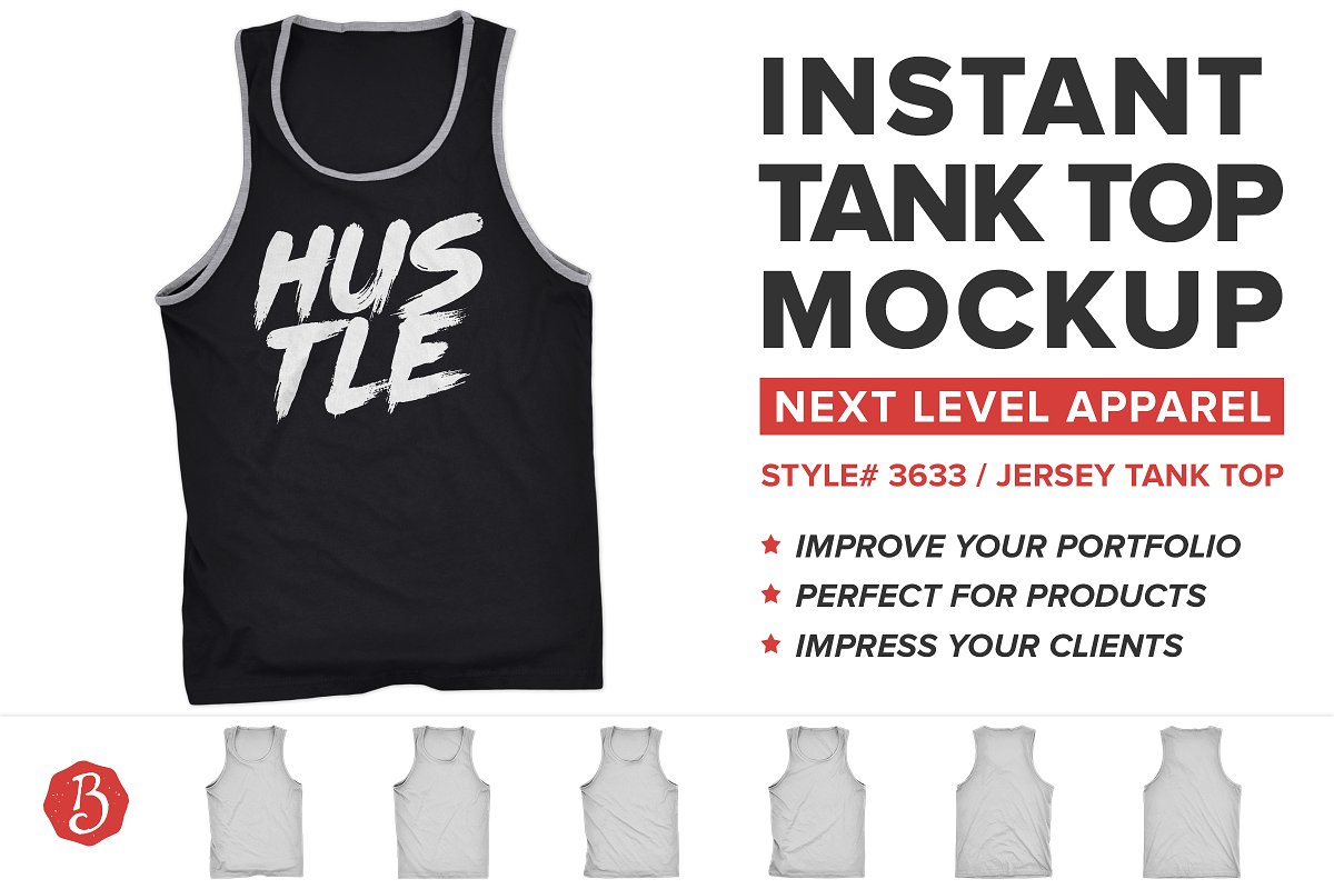 e74607e225d9c Next Level 3633 Tank Top Mockups ~ Product Mockups ~ Creative Market