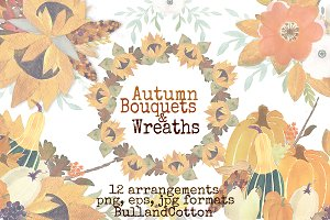 Autumn Harvest Bouquets and Wreaths