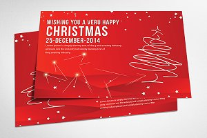Christmas Postcard Templates.