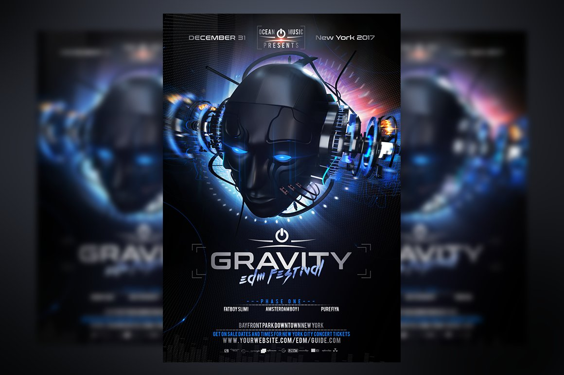 Gravity edm flyer template flyer templates creative market for Html edm template