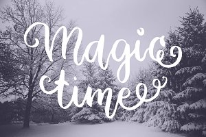 9 lettering Christmas Overlays quote