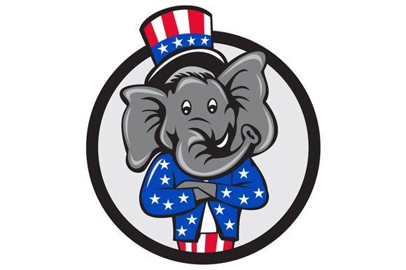 Republican Elephant Mascot