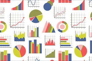 Business Infographic icons pattern