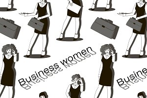 Business women set pattern