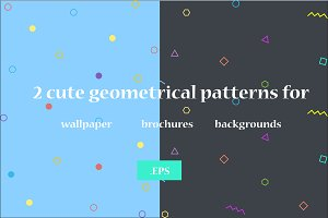 2 Cute geometrical patterns