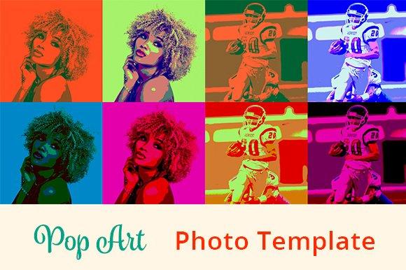 pop art psd template actions creative market
