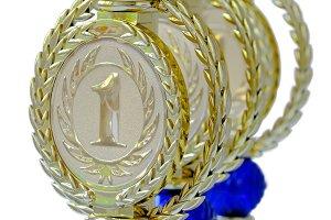 Part of award metal cups