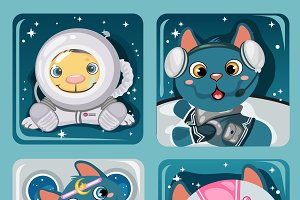 Kitten astronauts and at home