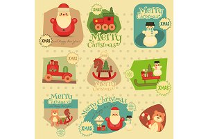 Xmas Stickers Set