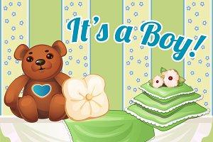 Decor baby boy and girl room