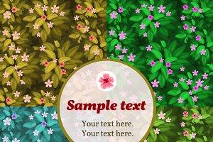 Four lilac flower cards