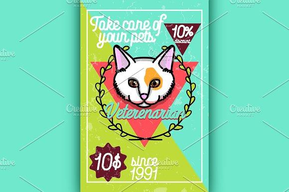 Color vintage veterinarian poster
