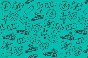 Electric car pattern
