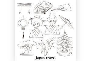 Japan icon set.