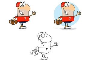 Football Waving Man. Collection