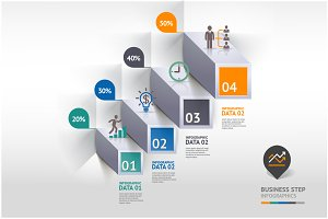 Business Infographic Step Icon